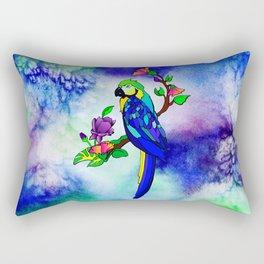 Tropical Bird (Blue and gold macaw) Rectangular Pillow
