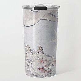 White boar Travel Mug