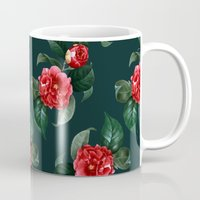 floral pattern Mugs featuring Floral Pattern by Heart of Hearts Designs