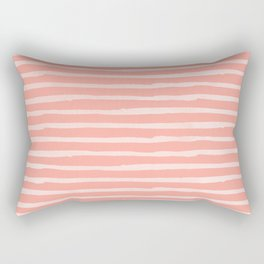 Rose Pink Stripes Pattern Rectangular Pillow
