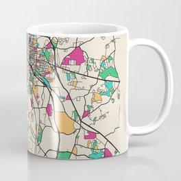 Colorful City Maps: Durham, North Carolina Coffee Mug