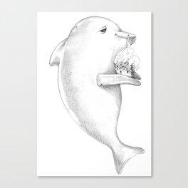 Puff Puff Pass the Pufferfish Canvas Print