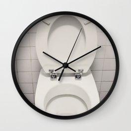 Water closet dirty Wall Clock