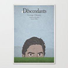 The Descendants - minimal poster Canvas Print