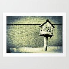 House of Hearts Art Print