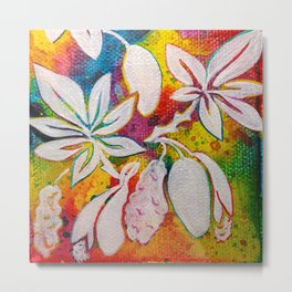 Leaves on the World Tree: Bambara Bani Metal Print