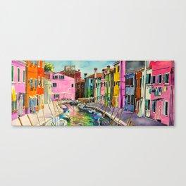 Venice Burano Canvas Print