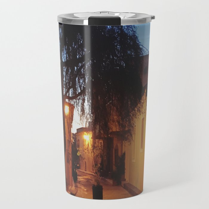 Athens alleyway Travel Mug
