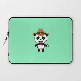 Panda Cowboy with horseshoe T-Shirt Dtao7 Laptop Sleeve