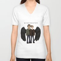 supernatural V-neck T-shirts featuring supernatural by f5ver