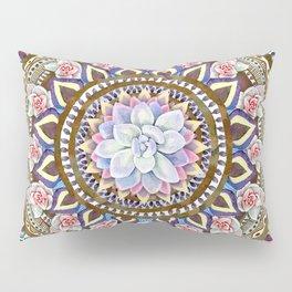 succulent mandala 6 Pillow Sham