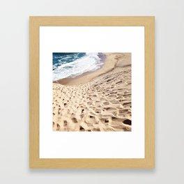 African Dune Beach Framed Art Print