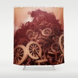 Sleeping Beauty Spindle Bonfire Shower Curtain