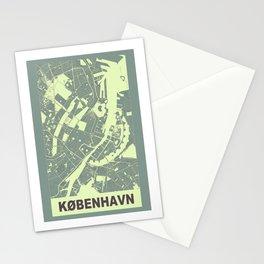 København, Danmark, city map, Mantle grey Stationery Cards