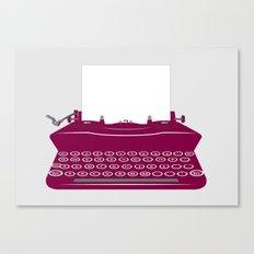 The Lonely Typewriter {dark plum} Canvas Print