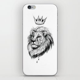 Cecil the Lion Black and White iPhone Skin