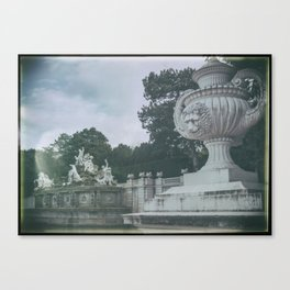 Neptune Fountain in the Schönbrunn Palace Park Vienna Austria Canvas Print
