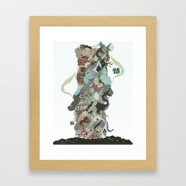 Garbage Pile Framed Art Print