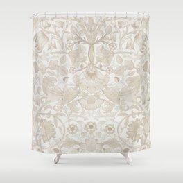 William Morris Vintage Lodden Antique Beige & Ivory Shower Curtain