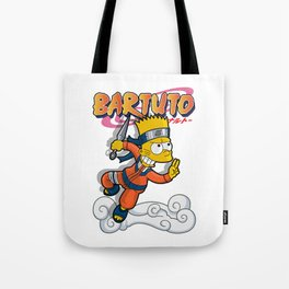 Bartuto: Bart Simpson meets Naruto Uzumaki Tote Bag