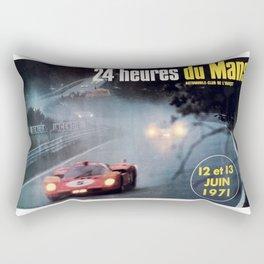 Le Mans 1972, race poster, car poster Rectangular Pillow