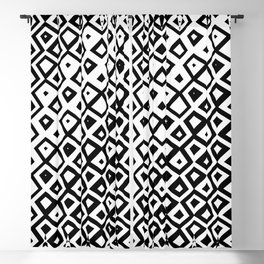 Asymmetry collection: black and white geometry Blackout Curtain