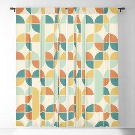 Mid Century Modern Geometric Pattern 1950s Colors Blackout Curtain