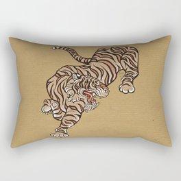 Tiger in Asian Style Rectangular Pillow