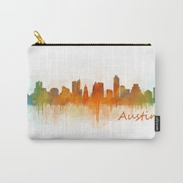 Austin Texas, City Skyline, watercolor  Cityscape Hq v3 Carry-All Pouch