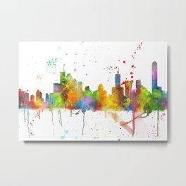 Brisbane Skyline Metal Print