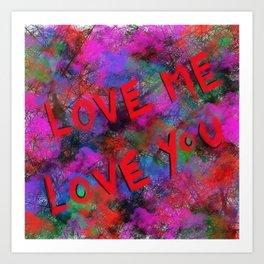 Metaphysical Penguin Love Me Art Print