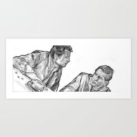marty mcfly Art Prints featuring mcfly by Brian Draws Movies