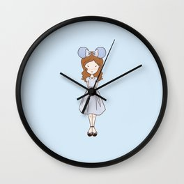 Faith Fan Girl Wall Clock
