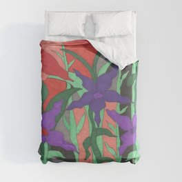 Twilight Sun Garden Floral Art Duvet Cover