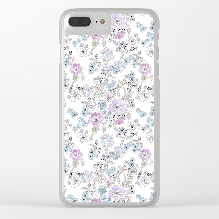 Watercolor . Spring .1 Clear iPhone Case