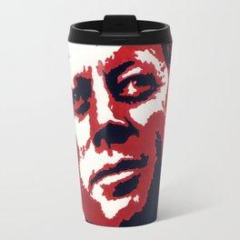 john f kennedy red and black popart Travel Mug