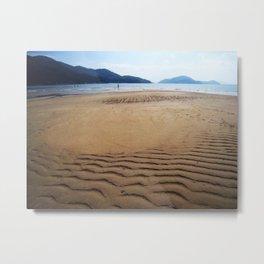 Imprints of Waves Metal Print