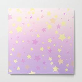 Magic stars background Metal Print
