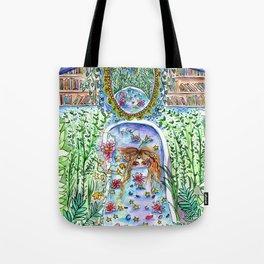 Flower Bath Garden Tote Bag