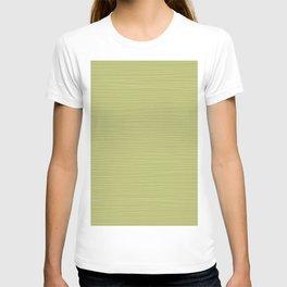 Horizontal White Stripes on Light Green T-shirt