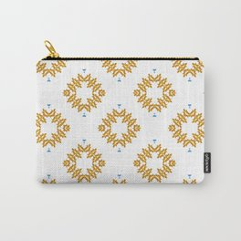 EMMETT - Pearl and Maude | Tangerine Orange, White and Sky Blue Dot Pattern Carry-All Pouch