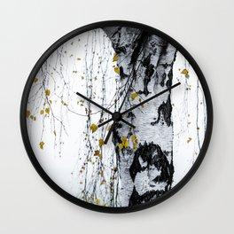 Birch Tree 1 Wall Clock