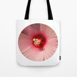 Pink Hibiscus Close-up Flower Photography Tote Bag
