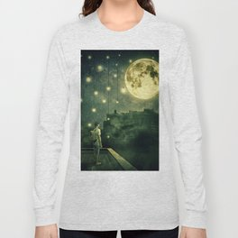 rooftops mystery night Long Sleeve T-shirt