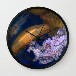 Pacific Sea Nettles Jellies Wall Clock