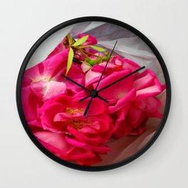Magenta petals IV Wall Clock