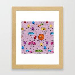 Candy Monster Framed Art Print