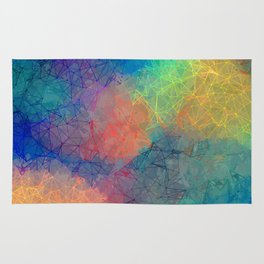 Reflecting Multi Colorful Abstract Prisms Design Rug