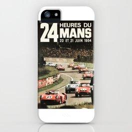Le Mans poster, 1964, 24hs Le Mans, original vintage poster iPhone Case