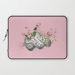 Brain Flowers Collage Laptop Sleeve